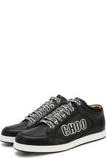 Кожаные кеды Miami на шнуровке Jimmy Choo