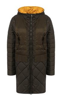 Стеганая куртка с капюшоном и карманами BOSS