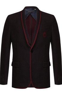 Однобортный пиджак из шерсти Billionaire