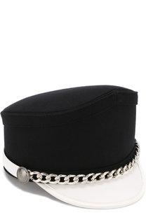 Текстильная кепка с декоративной цепью No. 21