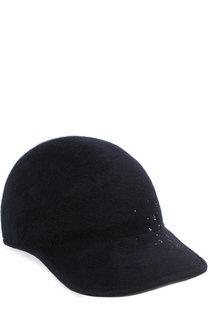 Фетровая кепка Tiger с отделкой стразами Maison Michel