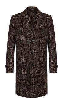 Однобортное шерстяное пальто с отложным воротником Ermenegildo Zegna