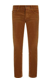 Хлопковые брюки прямого кроя Saint Laurent