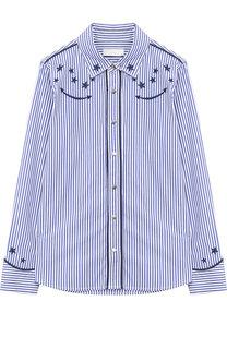 Хлопковая блуза в полоску Stella McCartney
