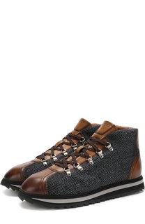 Комбинированные ботинки на шнуровке Doucals