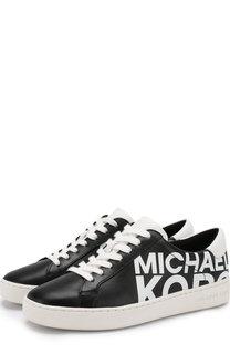 Кожаные кеды Irving на шнуровке MICHAEL Michael Kors