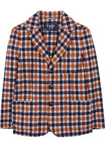 Однобортный пиджак джерси с принтом Il Gufo
