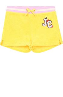 Хлопковые шорты с поясом на кулиске Juicy Couture