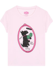 Хлопковая футболка с принтом Juicy Couture