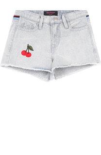 Джинсовые шорты с контрастной отделкой Juicy Couture