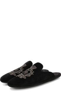 Домашние туфли Young Pope с вышивкой Dolce & Gabbana