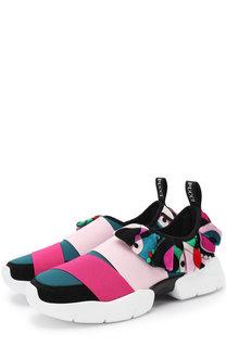 Текстильные кроссовки с эластичными лентами Emilio Pucci