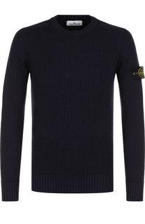 Шерстяной свитер фактурной вязки Stone Island