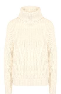 Кашемировый пуловер фактурной вязки с высоким воротником Loro Piana