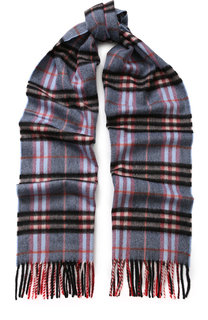 Кашемировый шарф в клетку с бахромой Burberry