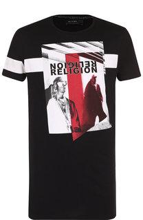Хлопковая футболка с принтом Religion