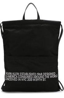 Текстильный рюкзак с контрастной вышивкой CALVIN KLEIN 205W39NYC