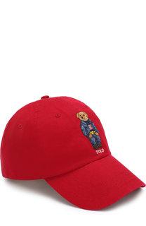 Хлопковая бейсболка с вышивкой Polo Ralph Lauren