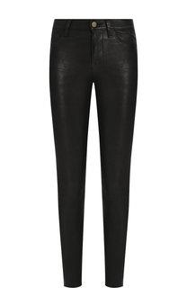 Однотонные кожаные брюки Frame Denim