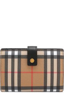 Кожаный кошелек в клетку Vintage Check Burberry