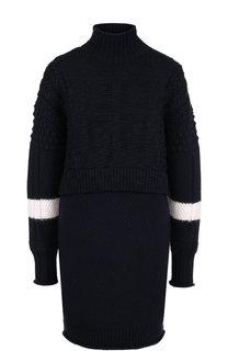 Вязаное платье из смеси шерсти и кашемира с высоким воротником Givenchy
