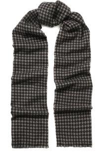 Кашемировый шарф с принтом Kiton