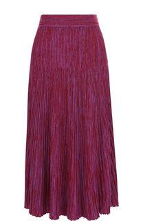 Вязаная шерстяная юбка-миди в складку Marni