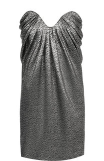 Платье-бюстье с фактурной отделкой Saint Laurent