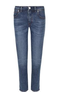 Укороченные джинсы с потертостями Two Women In The World