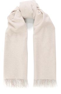 Кашемировый шарф с бахромой BOSS