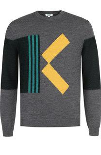 Шерстяной свитер с принтом Kenzo