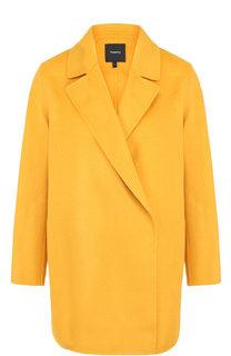 Однотонное пальто из смеси шерсти и кашемира Theory