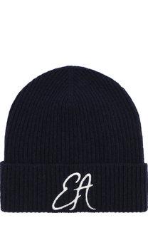 Шерстяная шапка с вышивкой Emporio Armani