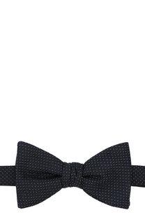 Шелковый галстук-бабочка с узором HUGO