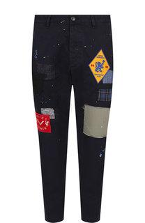 Укороченные брюки прямого кроя из хлопка Dsquared2