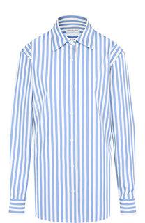 Хлопковая блуза в полоску Dries Van Noten