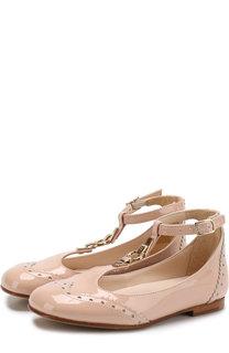 Лаковые туфли с ремешками Chloé