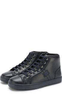 Высокие кожаные кеды на шнуровке Dolce & Gabbana