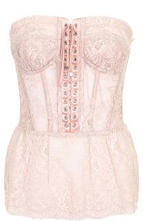 Кружевной топ-бюстье со шнуровкой Dolce & Gabbana