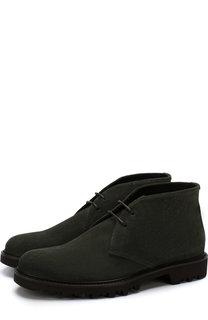 Замшевые ботинки на шнуровке Giorgio Armani