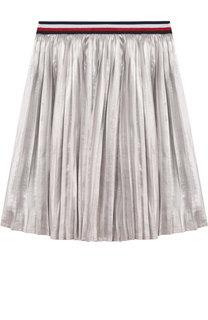 Плиссированная юбка с металлизированной отделкой и эластичным поясом Tommy Hilfiger