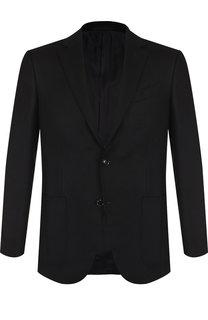 Однобортный пиджак из смеси шерсти и кашемира Ermenegildo Zegna