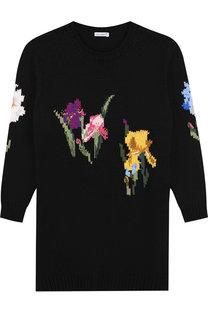 Шерстяное платье с вышивкой Dolce & Gabbana
