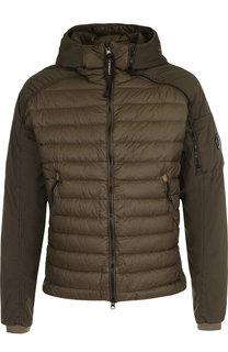 Стеганая куртка на молнии с капюшоном C.P. Company