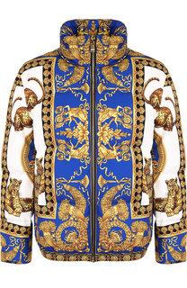 Пуховик на молнии SIGNATURE DEA с воротником-стойкой Versace
