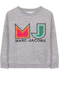 Хлопковый свитшот с аппликациями Marc Jacobs