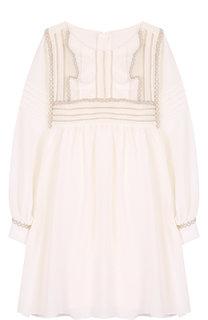 Платье с контрастной отделкой Chloé