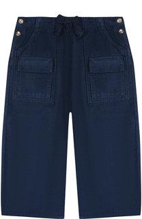 Хлопковые брюки прямого кроя Chloé