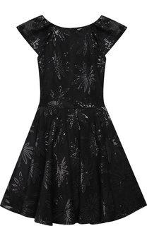 Платье с вышивкой пайетками David Charles