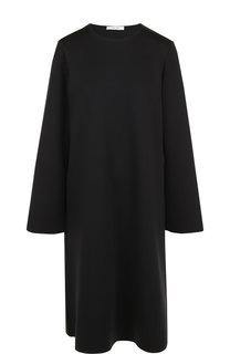 Однотонное платье свободного кроя с круглым вырезом The Row